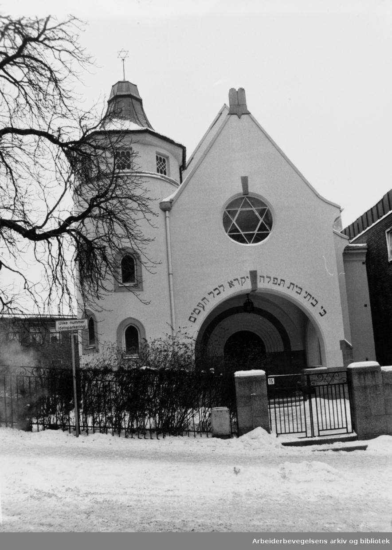 Bergstien. Jødenes synagoge i Bergstien 15. 13. januar 1986