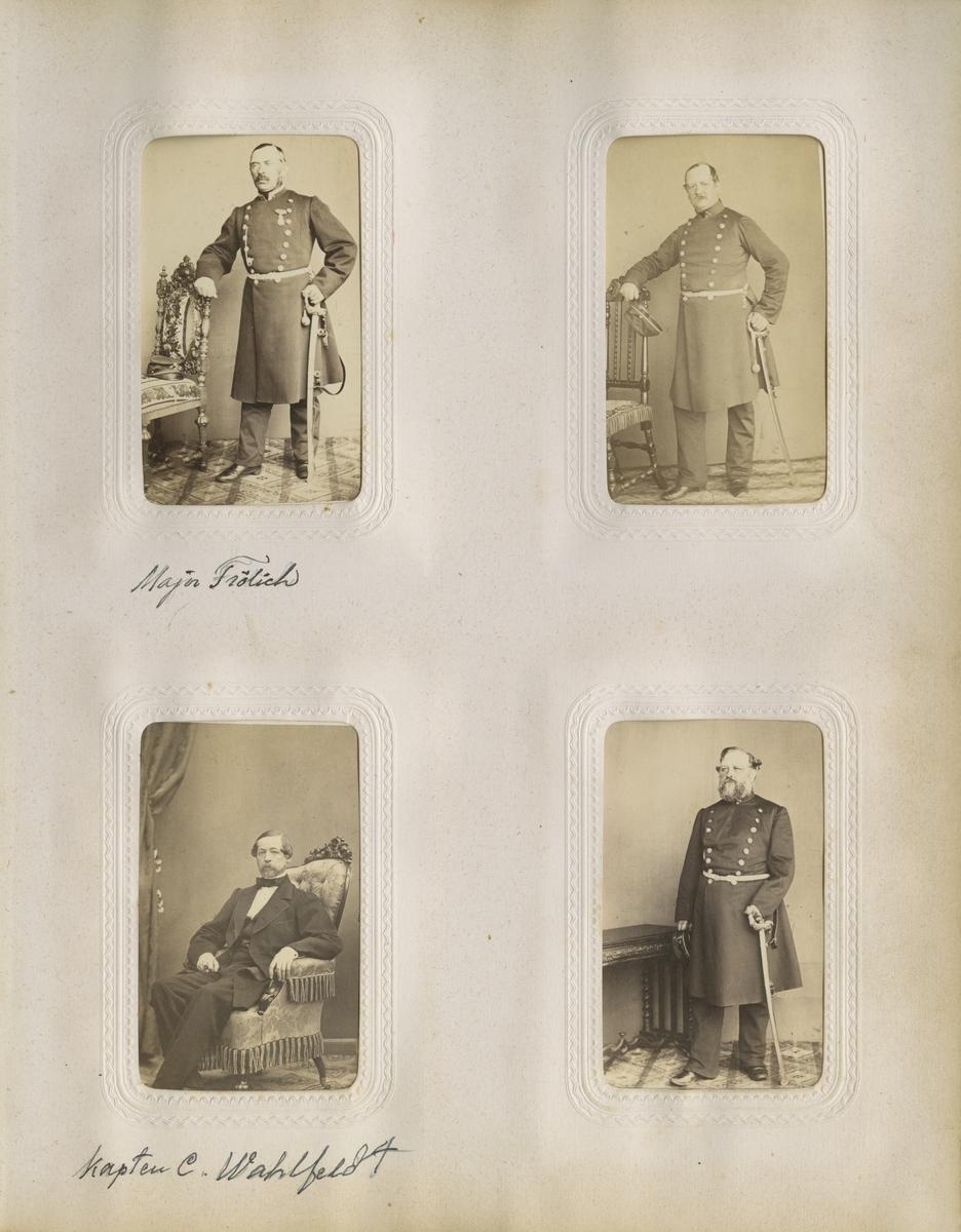 Porträtt av Johan Axel Frölich, major vid Västgöta regemente I 6.