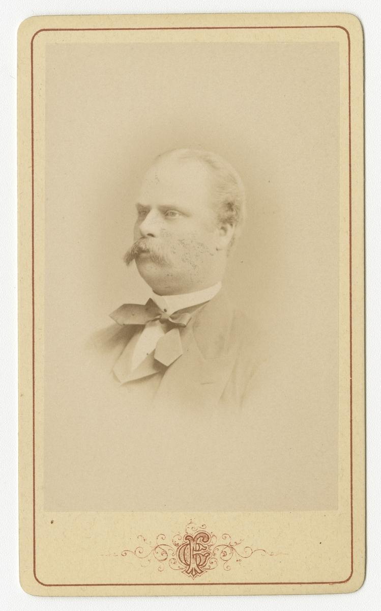 Porträtt av Carl Gustaf Alexander Sederholm, officer vid Västgöta regemente I 6.  Se även bild AMA.0009455, AMA.0009551 och AMA.0021943.