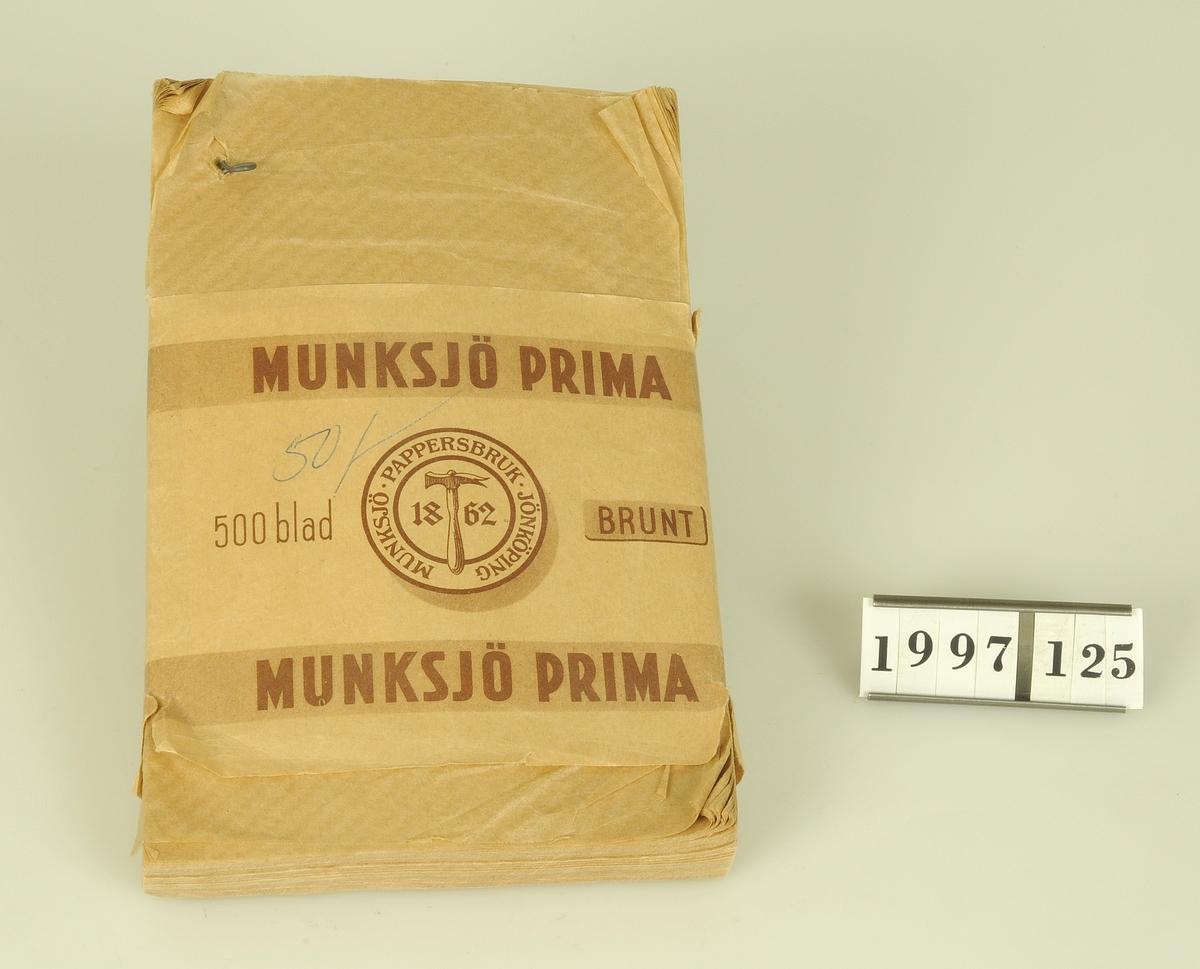 Bunt om 500 blad.  Modell/Fabrikat/typ: Munksjö prima