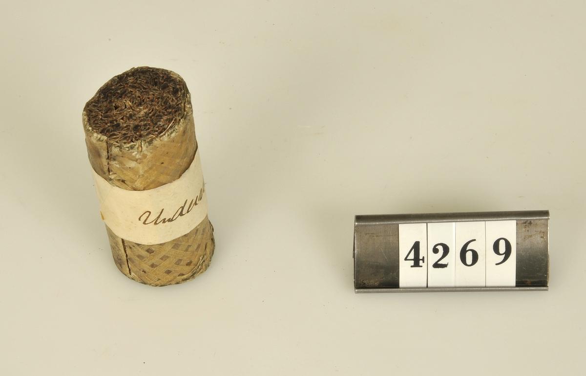 En bit av den första undervattenskabeln som lades under Atlanten.