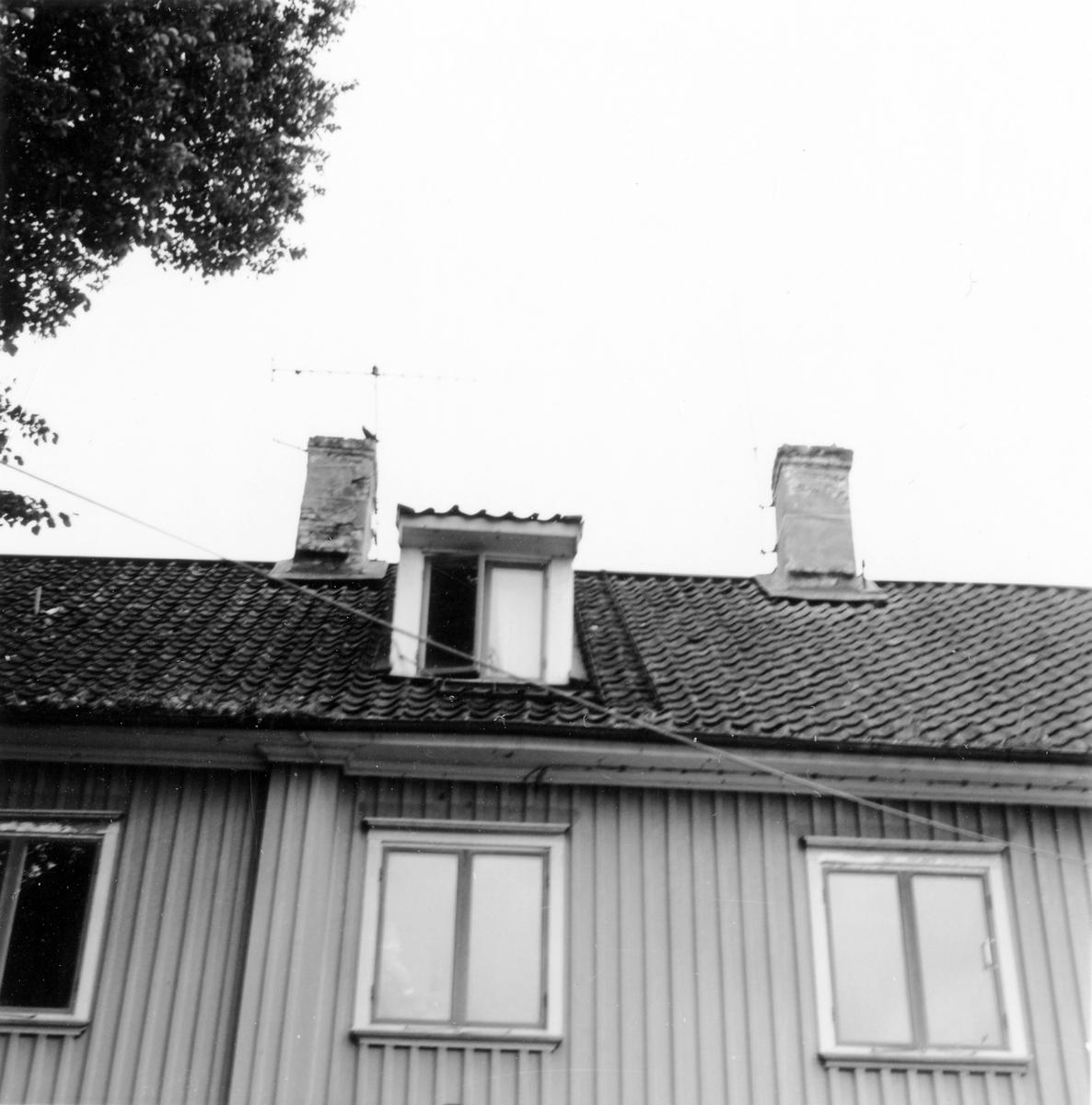Gamla tingshuset. Hörnet av Plangatan och Östra Vattugränd i kvarteret Spinnaren.