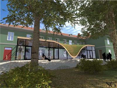 Det nye museet i Fayegården i Halden. Modell SG