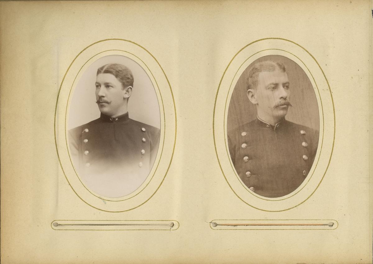 Porträtt av Ernst Emil Fredrik Sabelström, underlöjtnant vid Kalmar regemente.