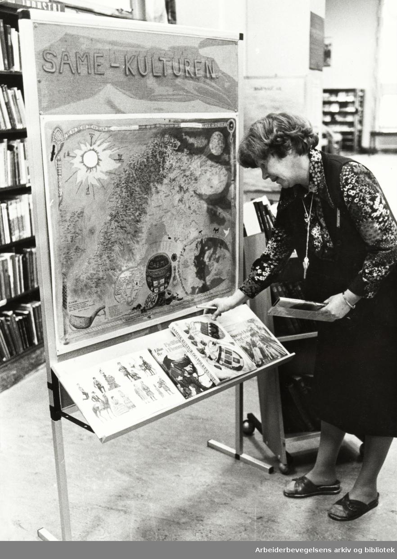 Deichmanske Bibliotek. Teknisk avdeling, hovedbiblioteket. Oktober 1979