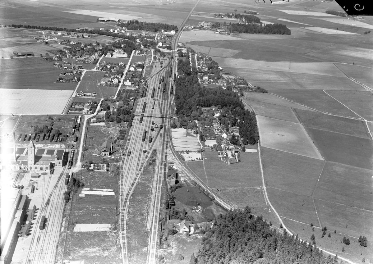 Flygfoto över stationen
