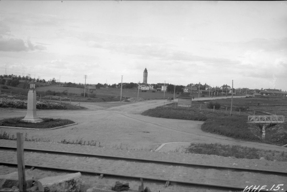 Staden sedd från stationen