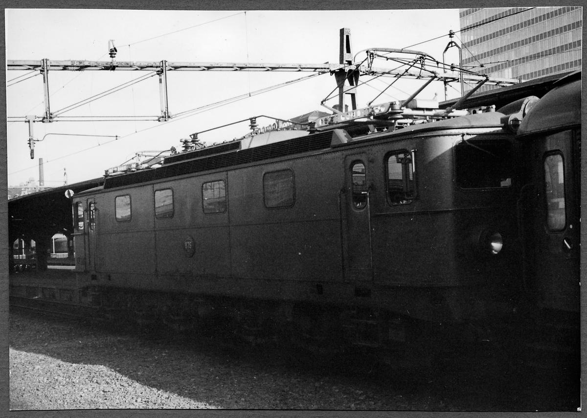 Statens Järnvägar, SJ Ma 875 på Stockholms Centralstation.