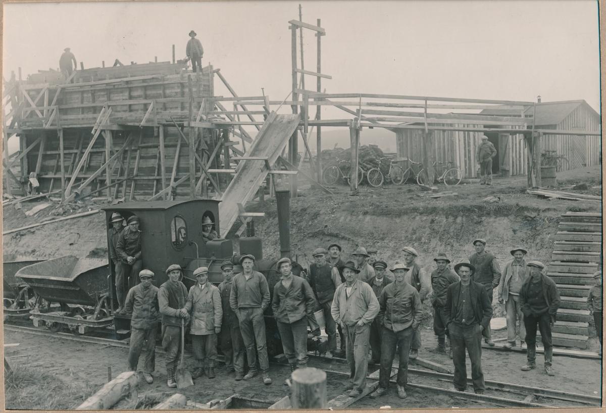 Viaduktbygge Malung 1933