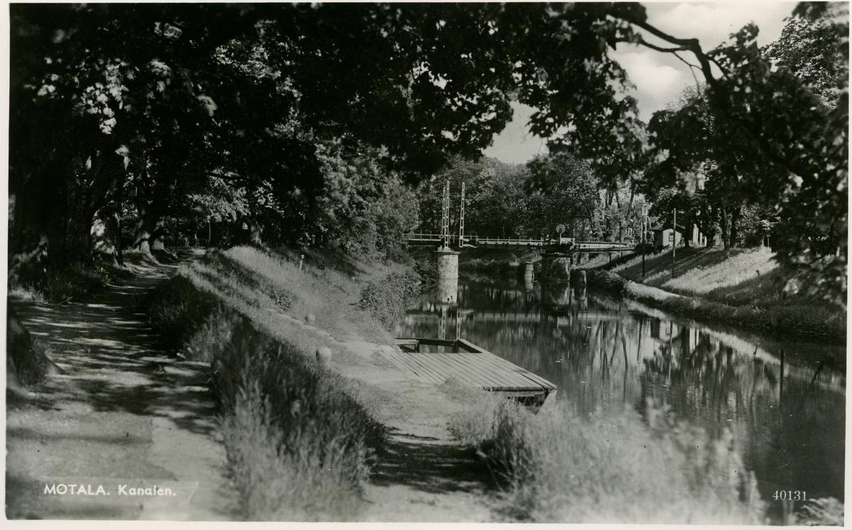Kopia av Pressbyråns vykort. Motala. Kanalen.