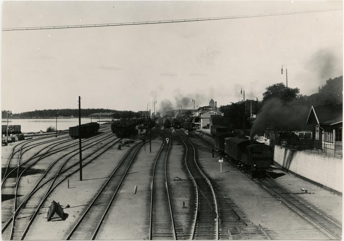 Nässjö bangård omkring 1915