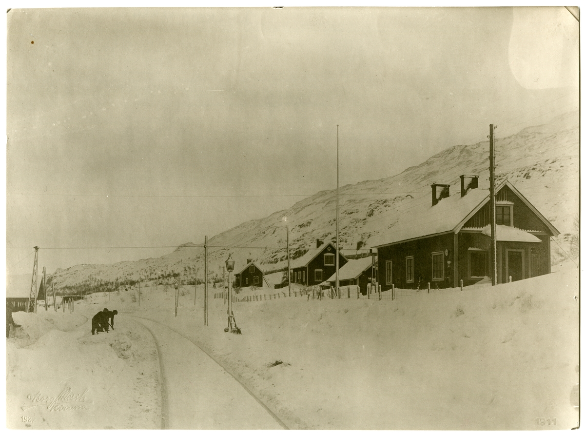 Riksgränsens stations östra ände
