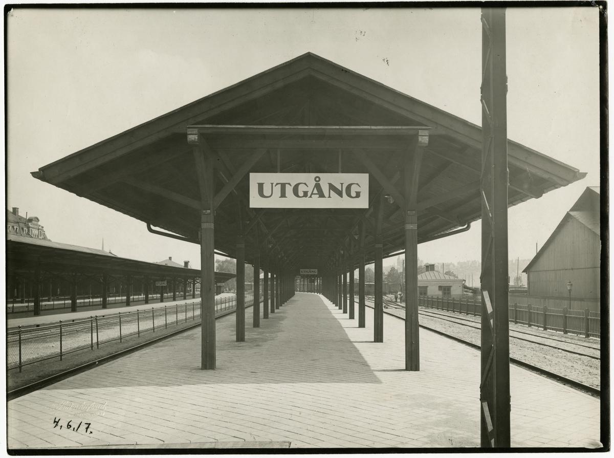 Stockholms Central plattformstaket över plattform 5 färdigbyggt.