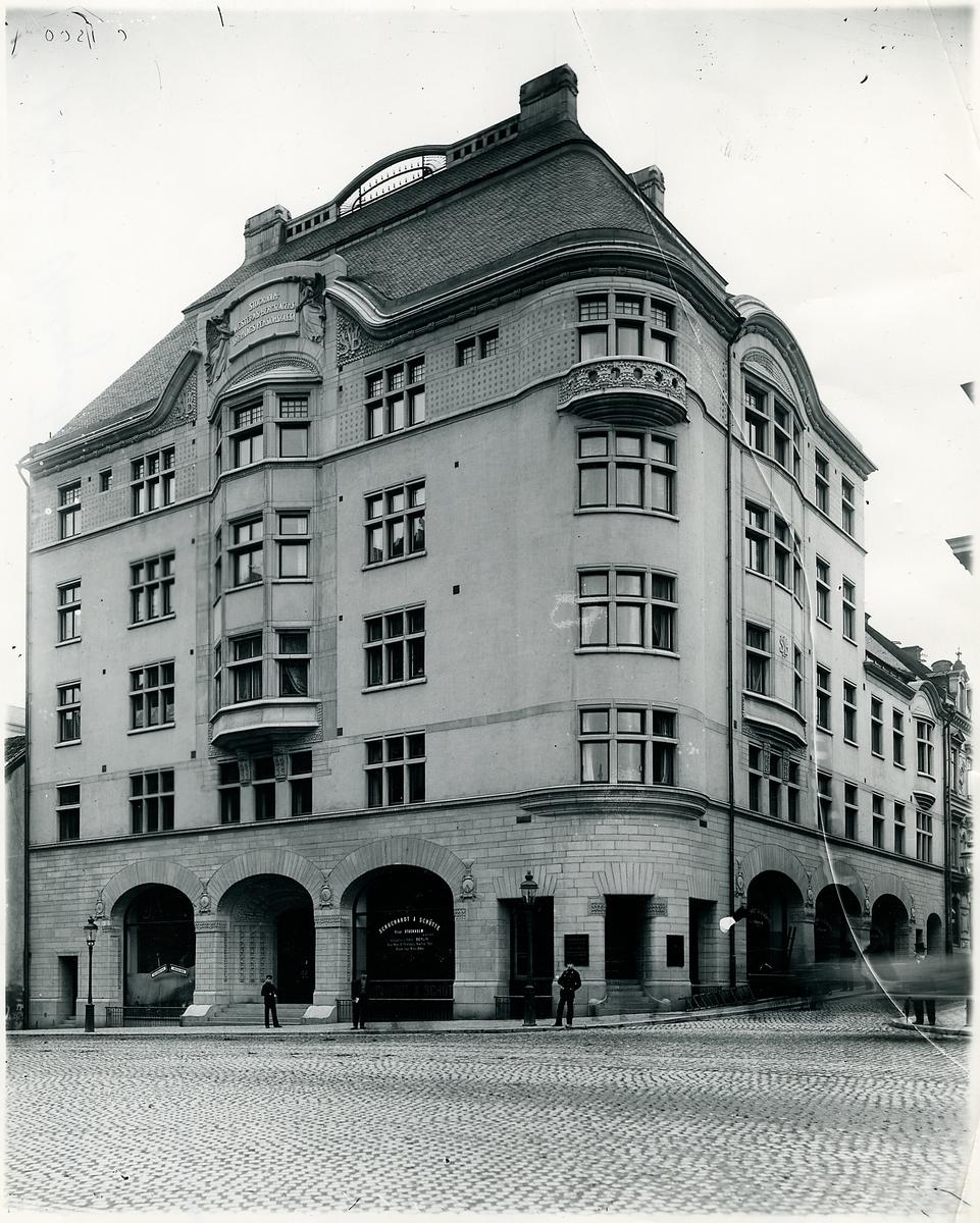 Stockholm Vasagatan 24. SWB-huset. Hörnet av Klarabergsgatan. SWB ,Stockholm - Västerås - Bergslagens Järnvägar.