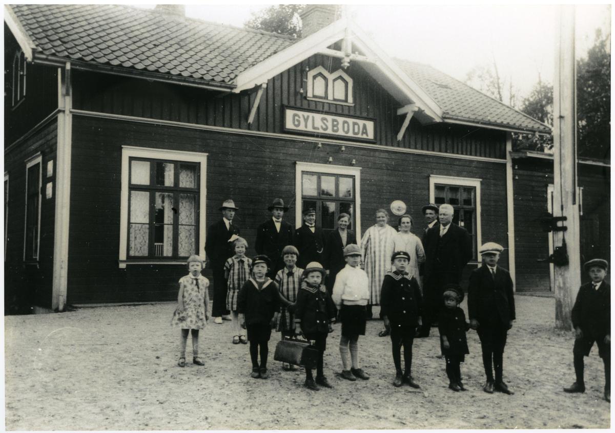 Gylsboda station på normalspåriga linjen Sölvesborg - Olofström - Älmhult.