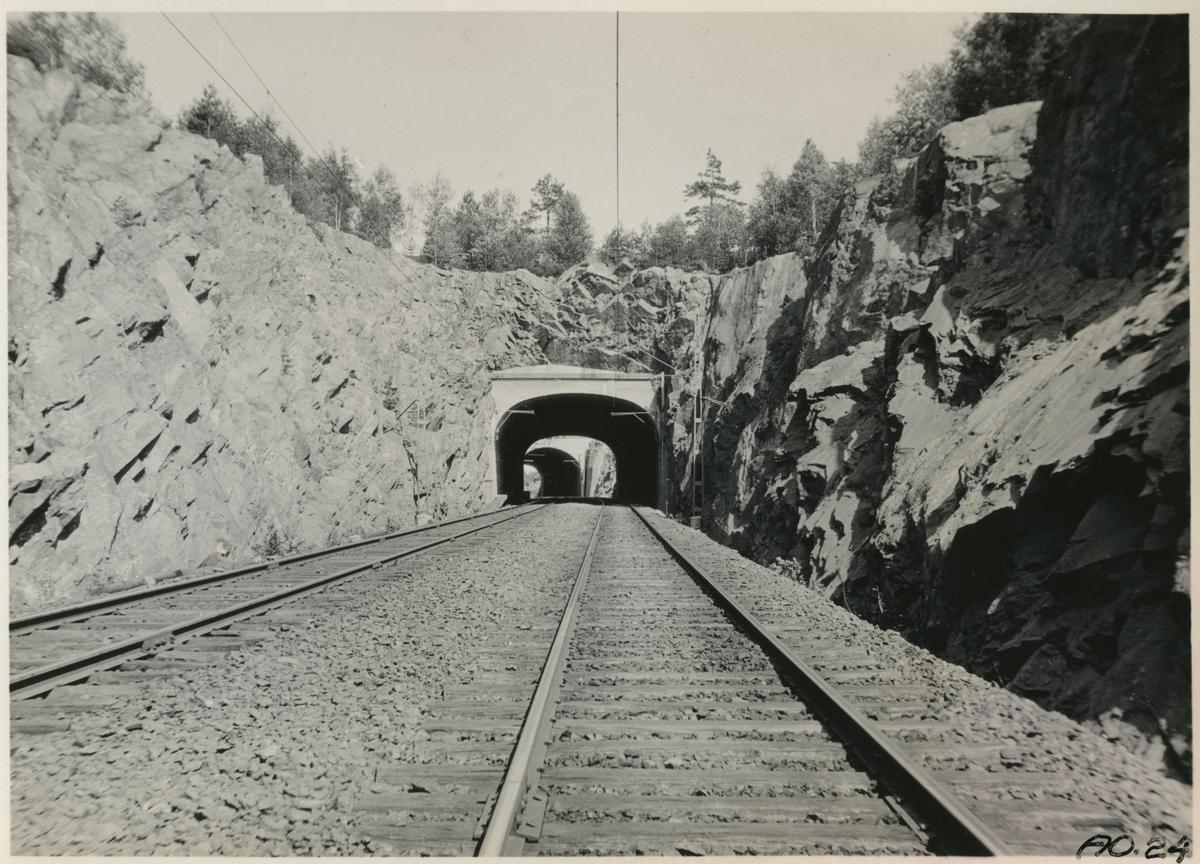 Tunnel vid Ubbared som består av en i söder samt en i norr.