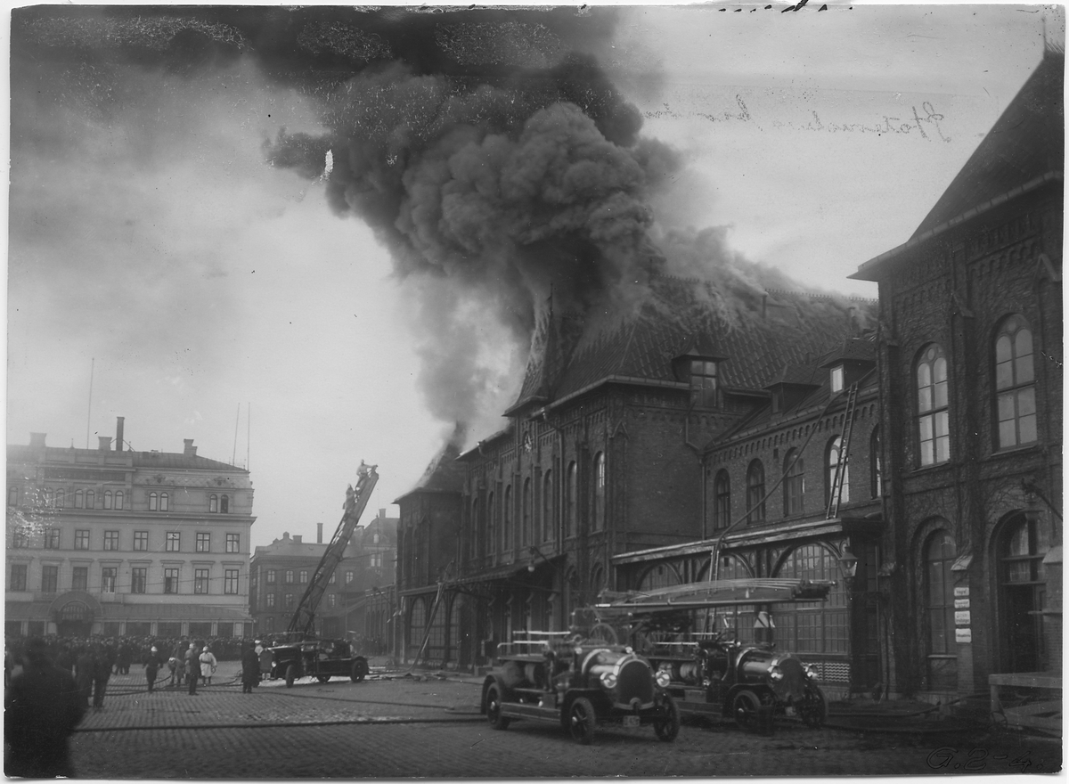 Branden på Göteborgs station.