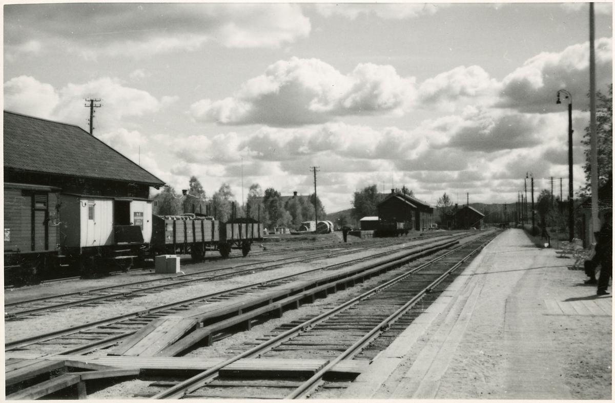 Bangården vid Järvsö station.