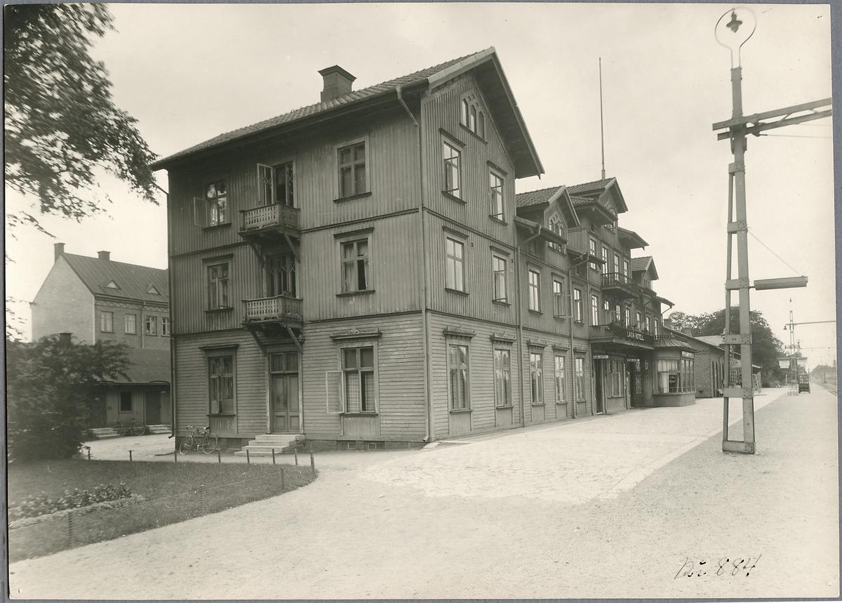 Laxå hotell vid stationshuset.