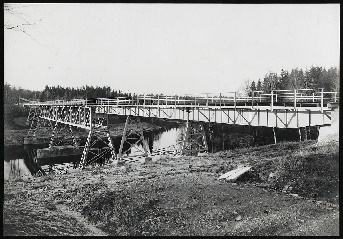 Järnvägsbron över Norsälven på linjen mellan Kil-Fagerås.