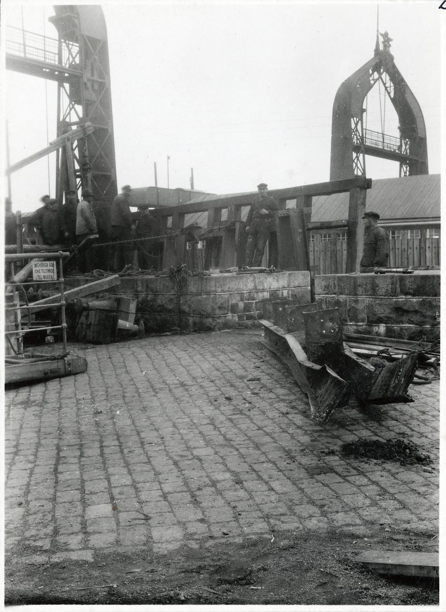 Färjeläget i Trelleborg.