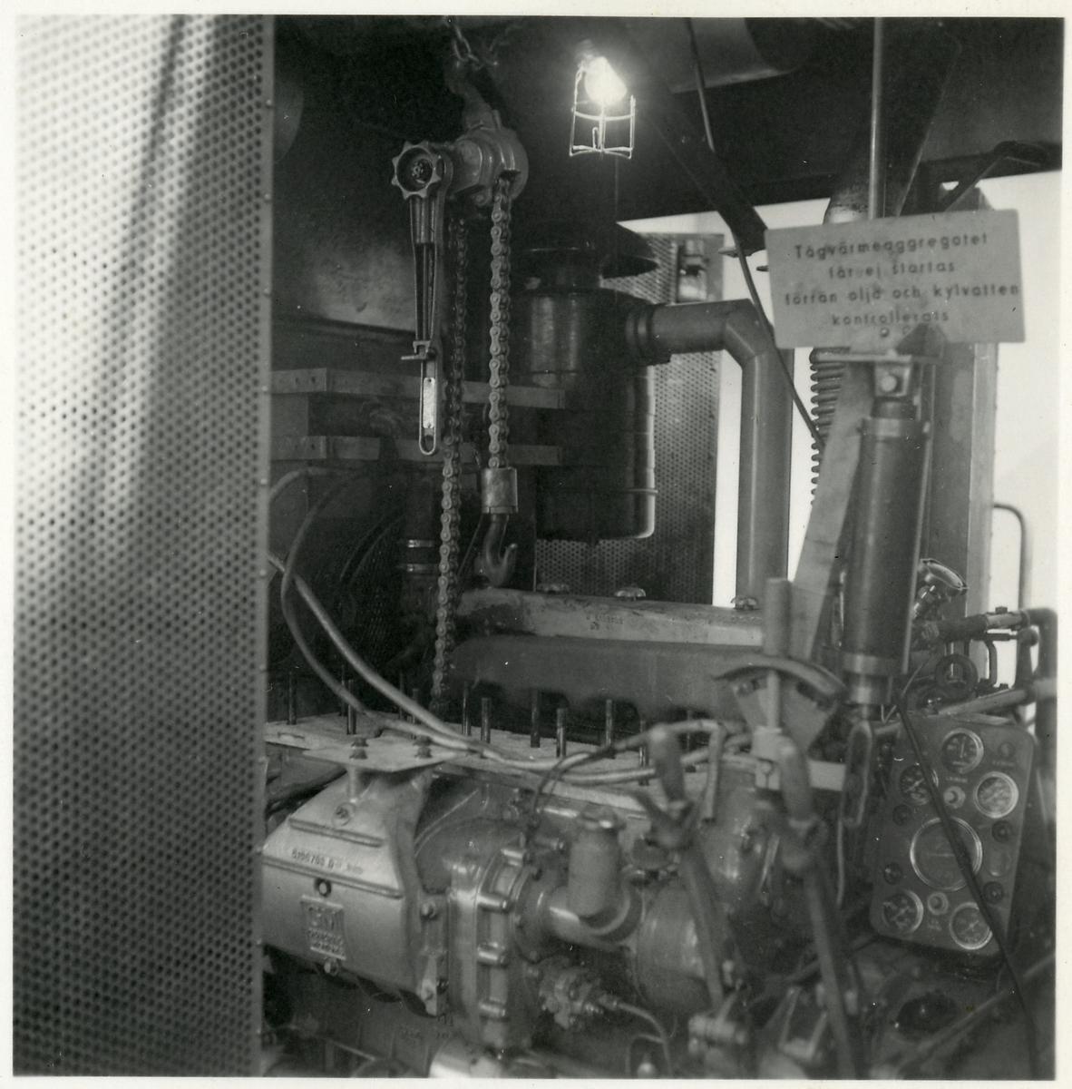 Detaljbild - Motor och vinsch.