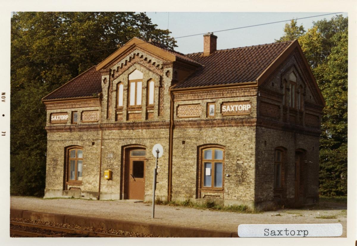 Saxtorp station.