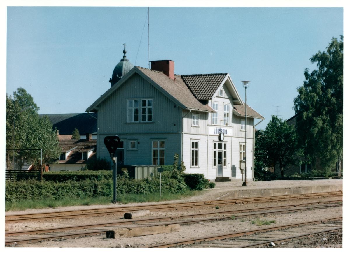 Lönsboda station.