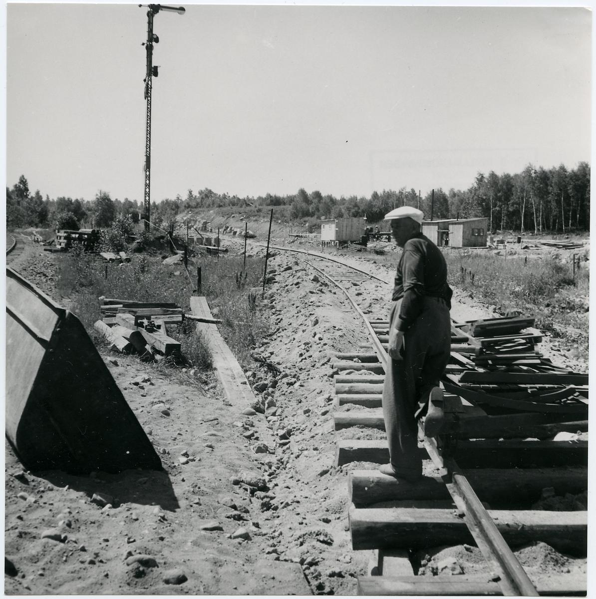 Dubbelspårsbygge på linjen mellan Boxholm och Sommen.