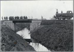 Mätning och inspektion av bro över å. Skåne-Småland Järnväg,