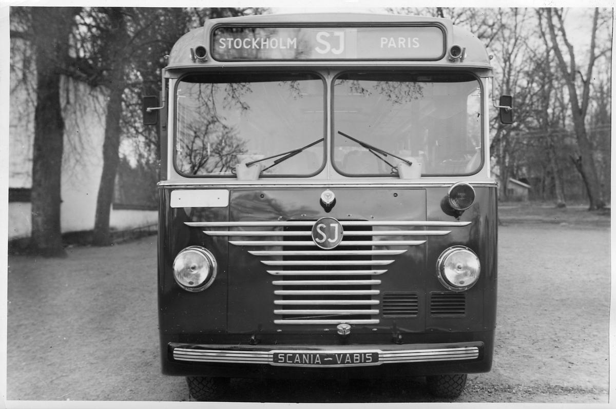 Scania-Vabis 2B21 SKV 1951. Statens Järnvägar, SJ buss 1881.
