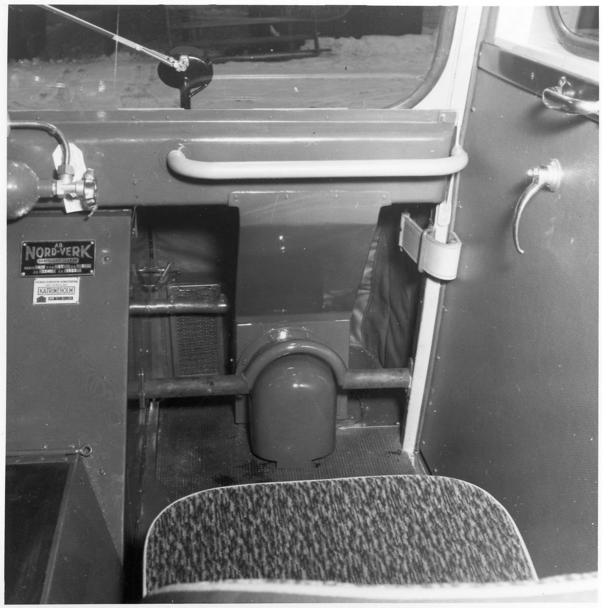 Interiör från en buss.