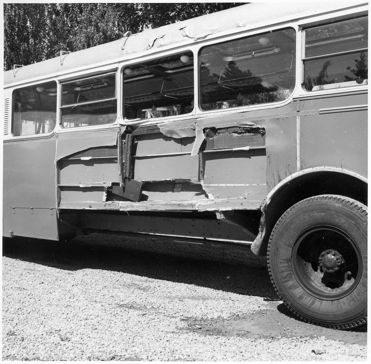 Trafikskadad buss.