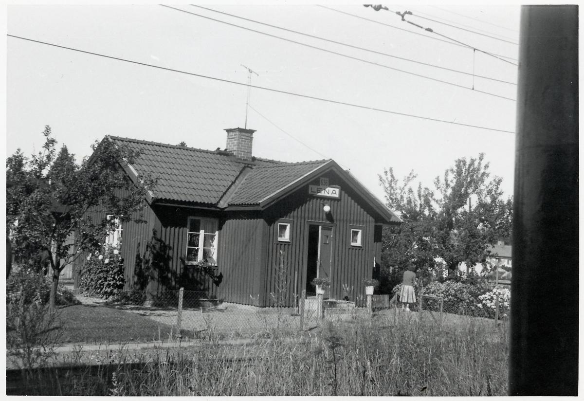 Banvaktstuga i Lena, på sträckan mellan Lemmeströ och Lenaberg.
