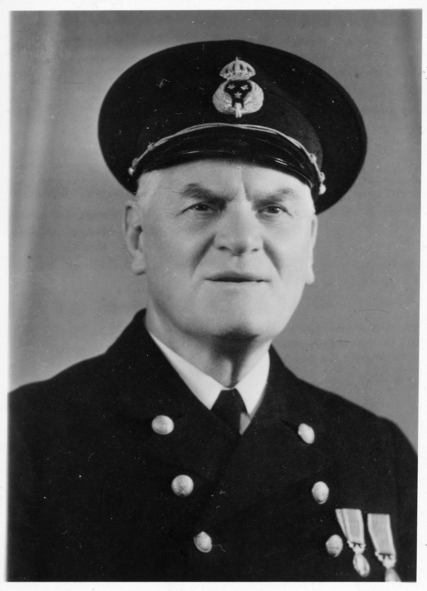 C L Lindberg, stationsinspektor i Markaryd 1942-1945.