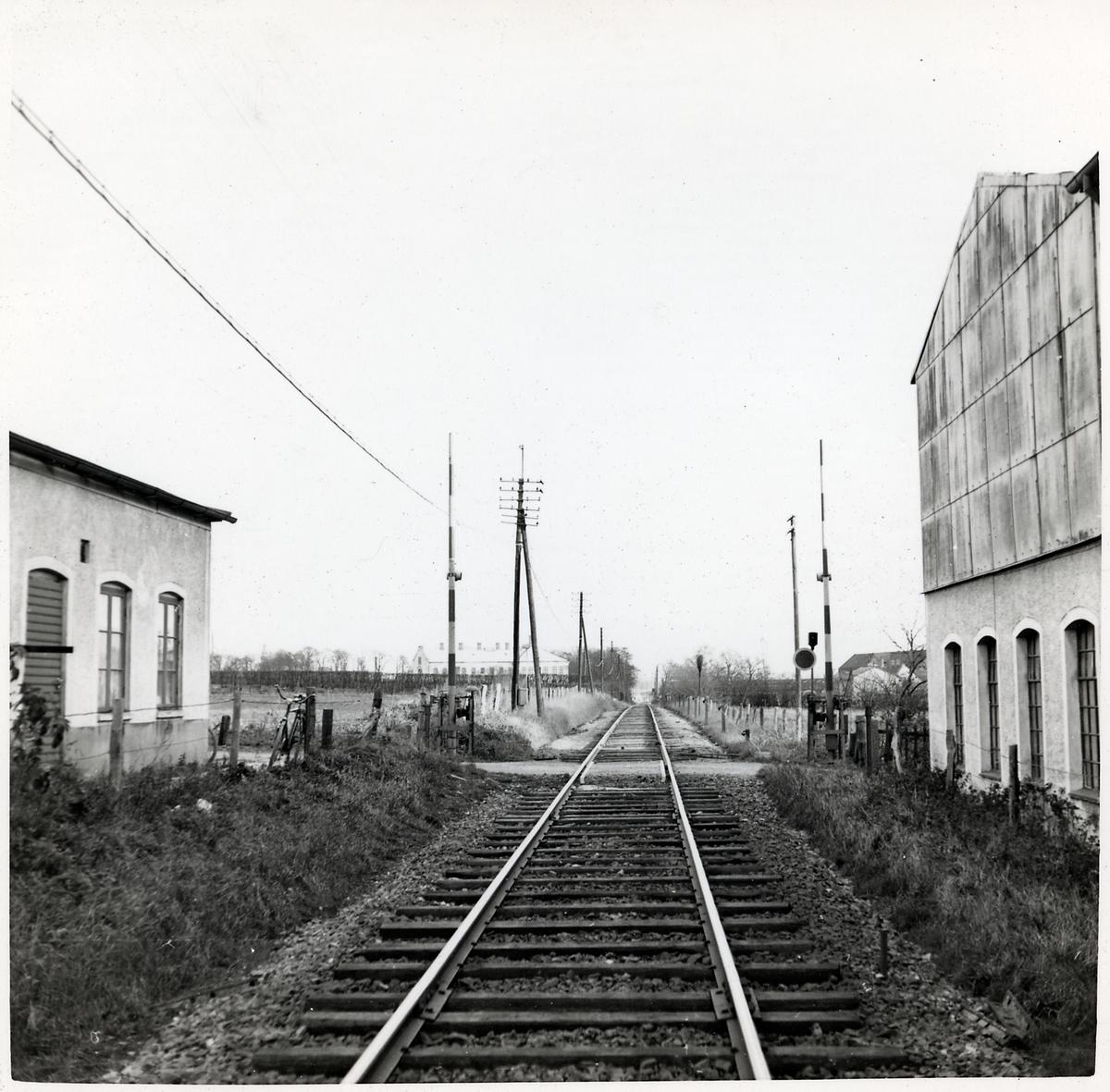Järnvägsövergång vid Bongs väg i Ystad.