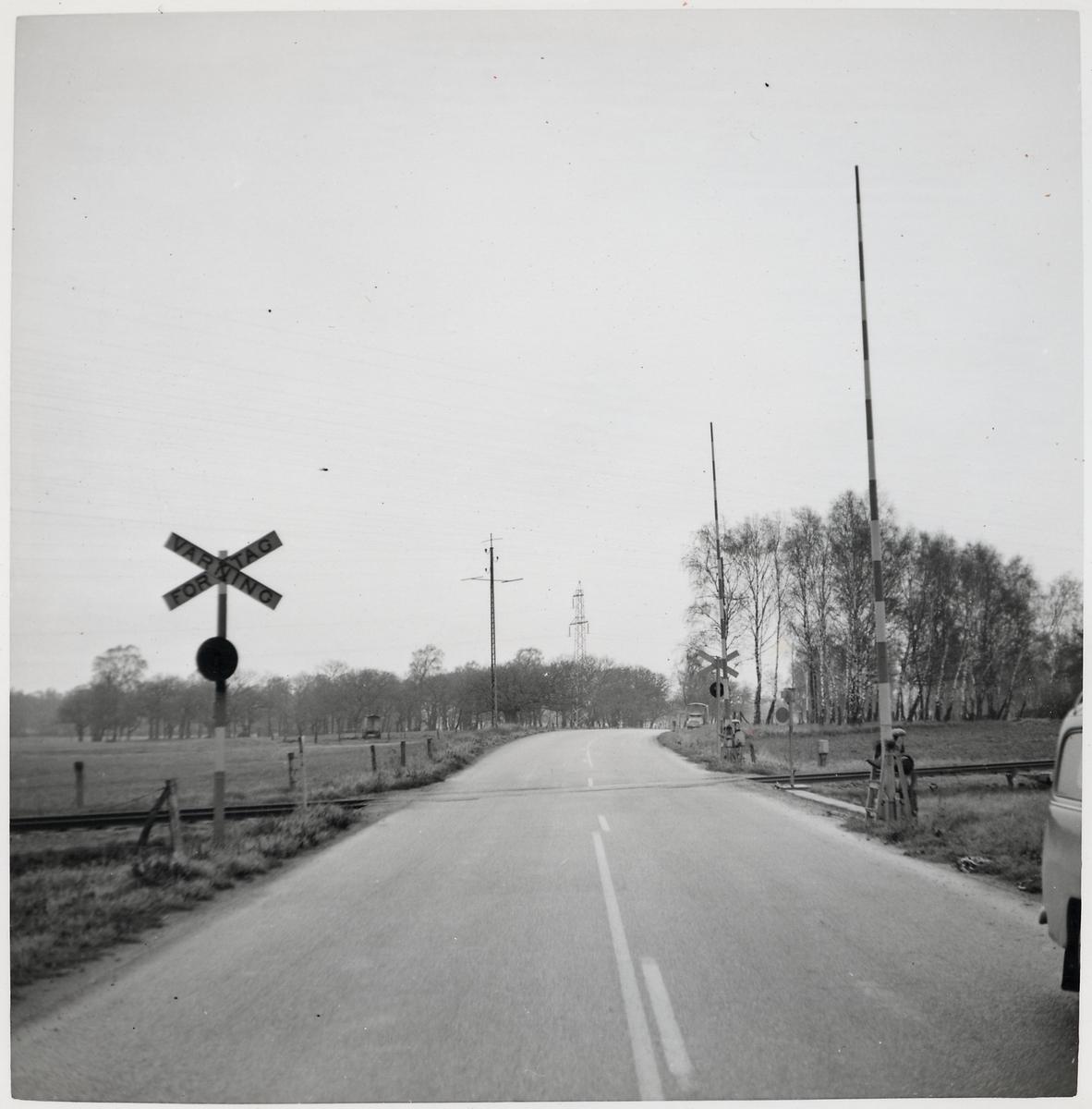 Järnvägsövergång vid Ljungen, på sträckan mellan Veberöd och Sjöbo.