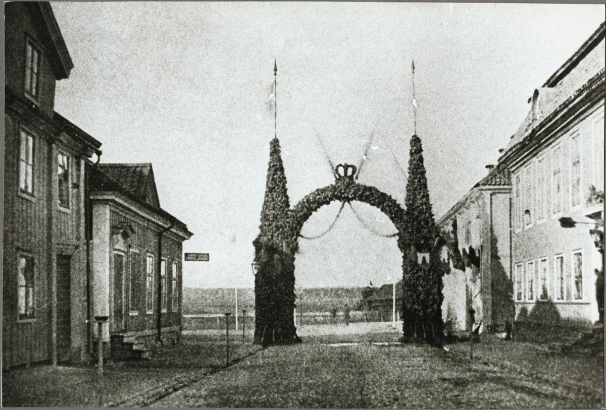 Bild från invigningen av Oxelösund - Flen - Västmanlands Järnväg, OFWJ i Nyköping.