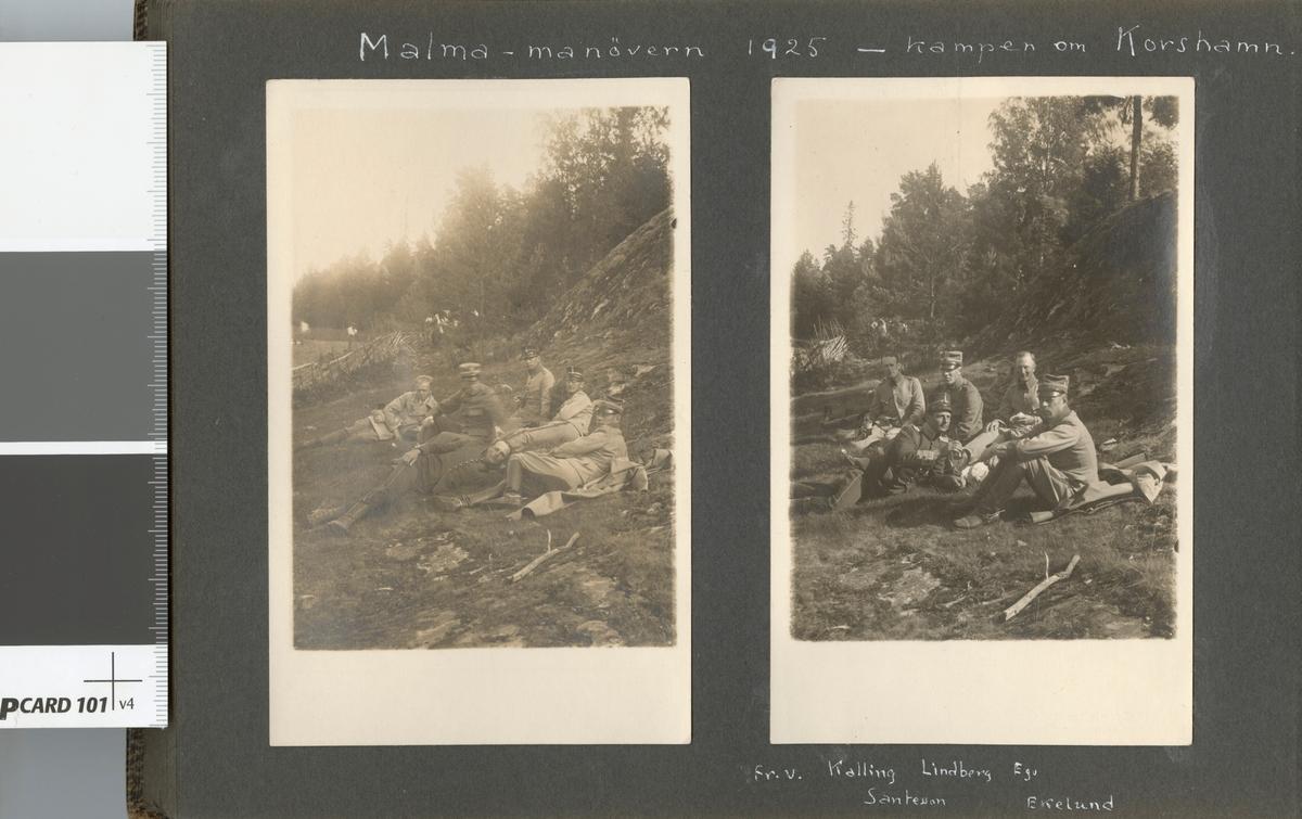"""Bildtext: """"Malma-manövern 1925 - kampen om Korshamn."""""""