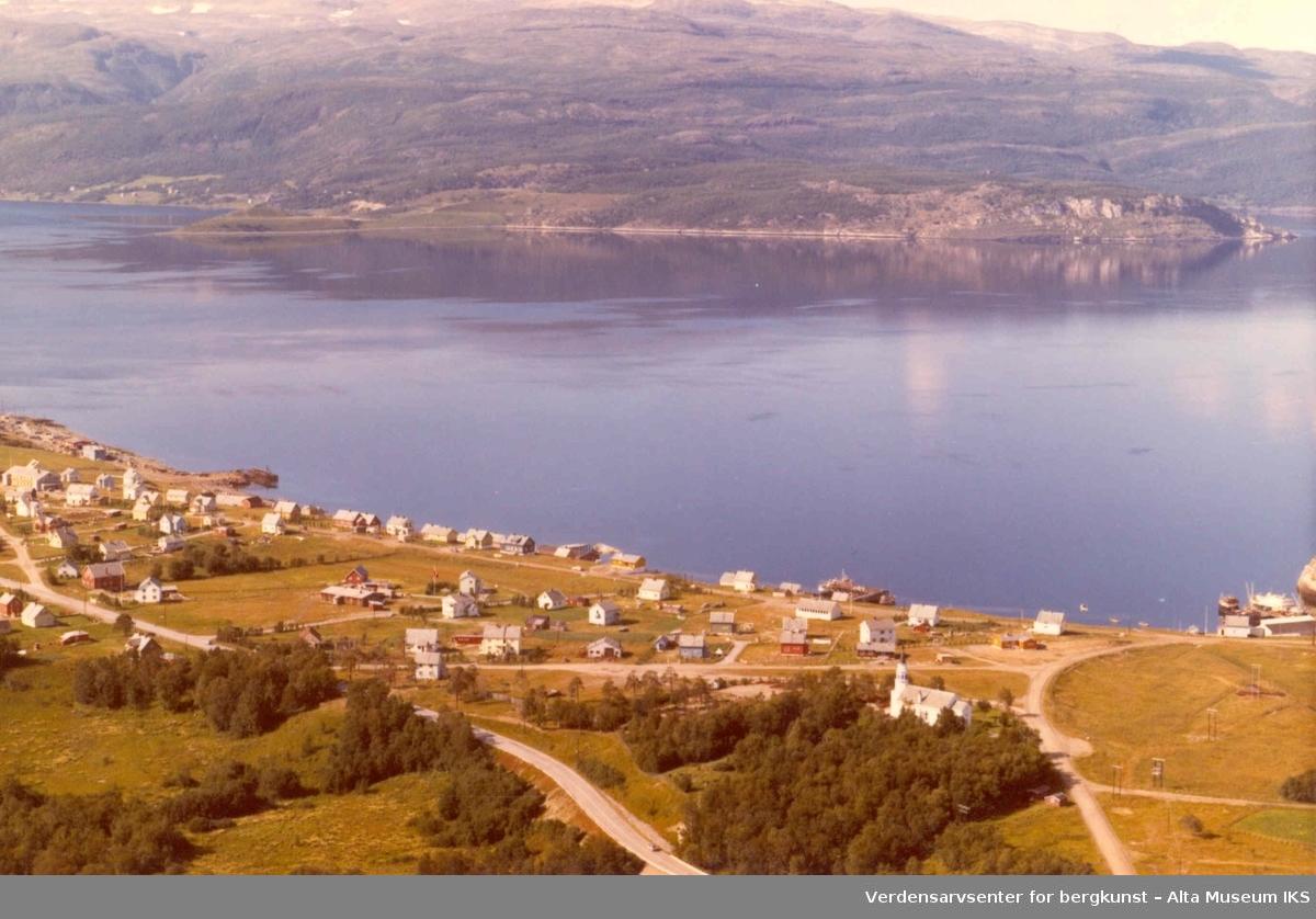 Bossekop, bolighus, Altaveien, Altafjorden, Alta kirke