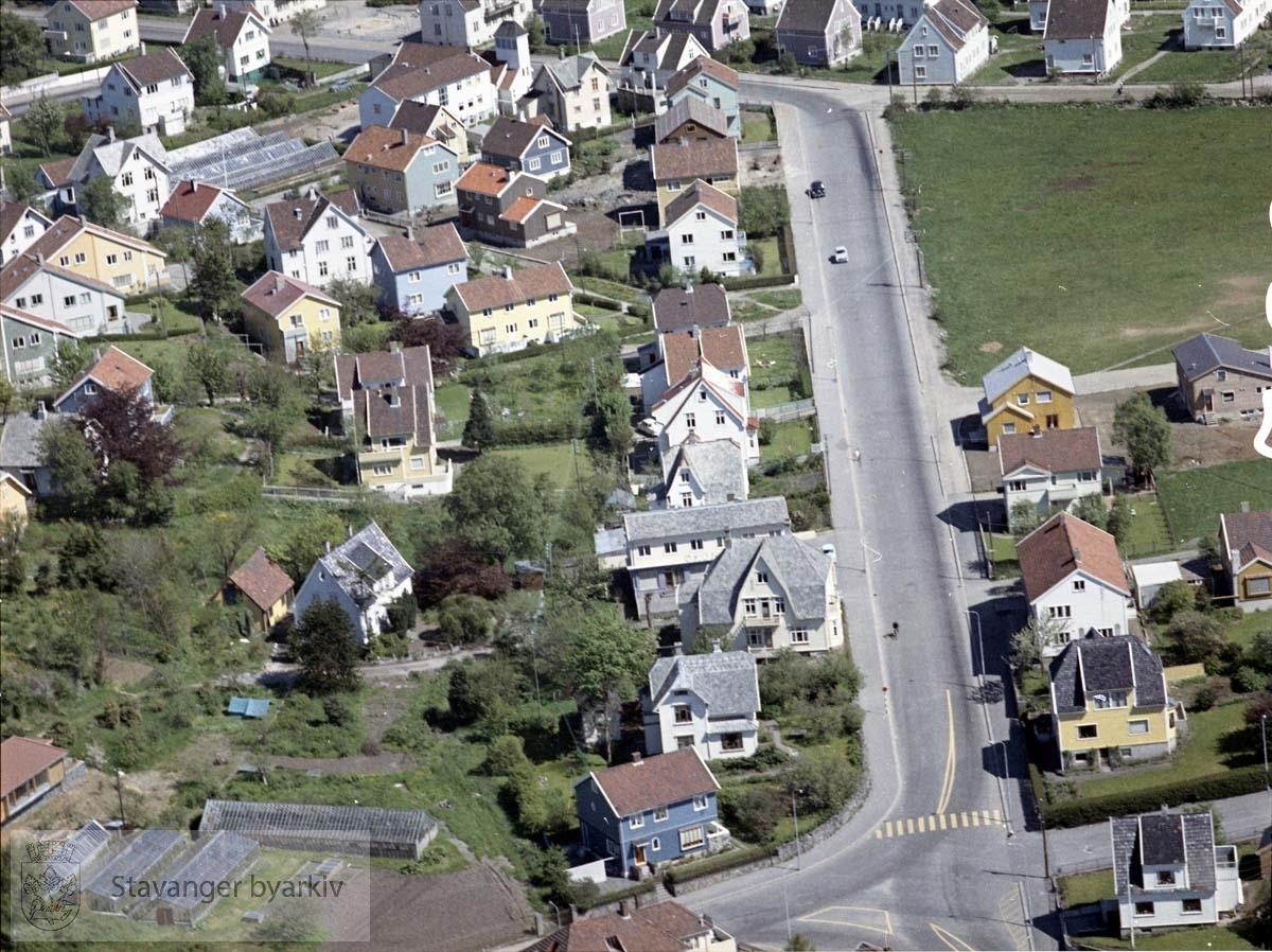 Storhaug / Varden mot Midjord..Bebyggelse tilknyttet Hjelmelandsgata, Hellelandsveien, Egersundsgata, Nymansveien
