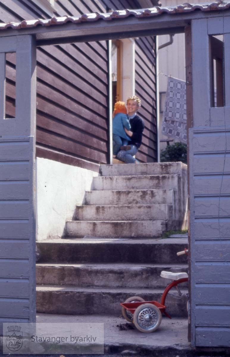 Trappeoppgang til inngangsdør