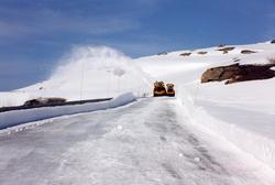 Snøfresere på Melfjellet i Rana 1999