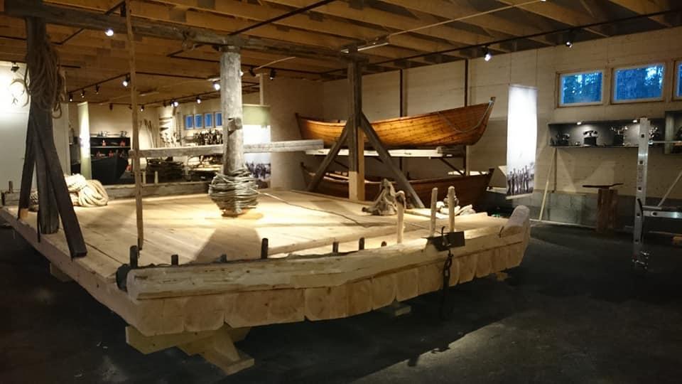 Spillflåte i ny magasinhallen på Blokkodden (Foto/Photo)