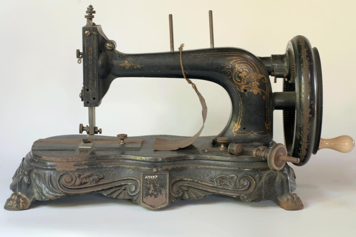 Symaskin med div. utstyr
