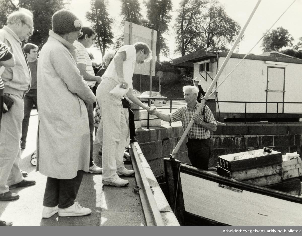 Havna. Rekehandel. Juli 1985