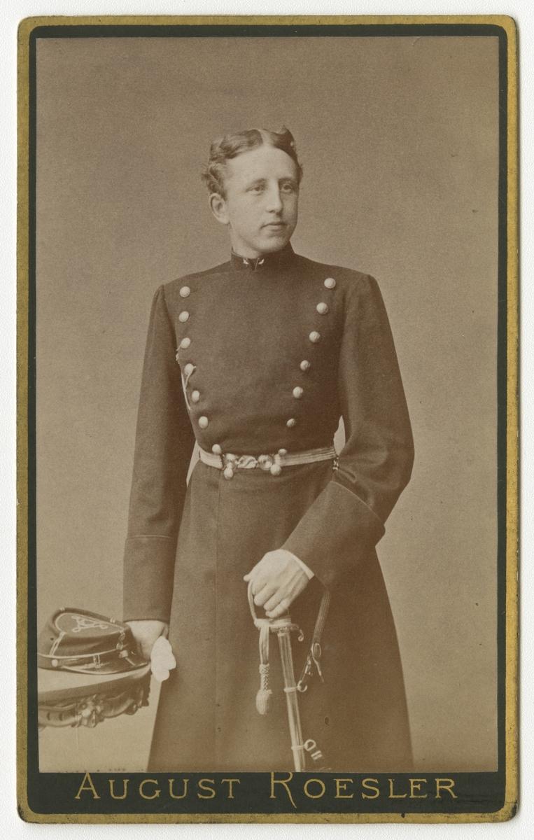 Porträtt av Fredrik Gustaf Samuel Lilliehöök af Gälared och Kolbäck, underlöjtnant vid Värmlands regemente I 22.