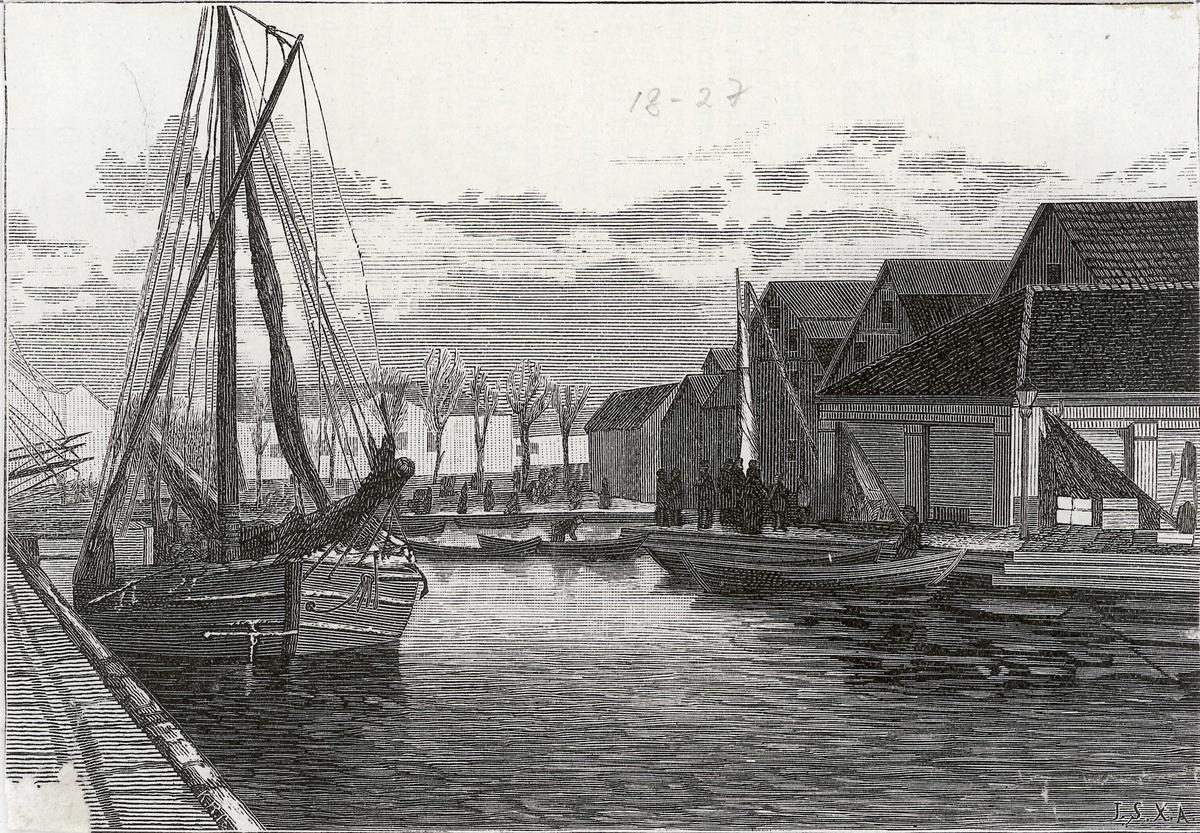 brygge, fjord, fiskeskøyte