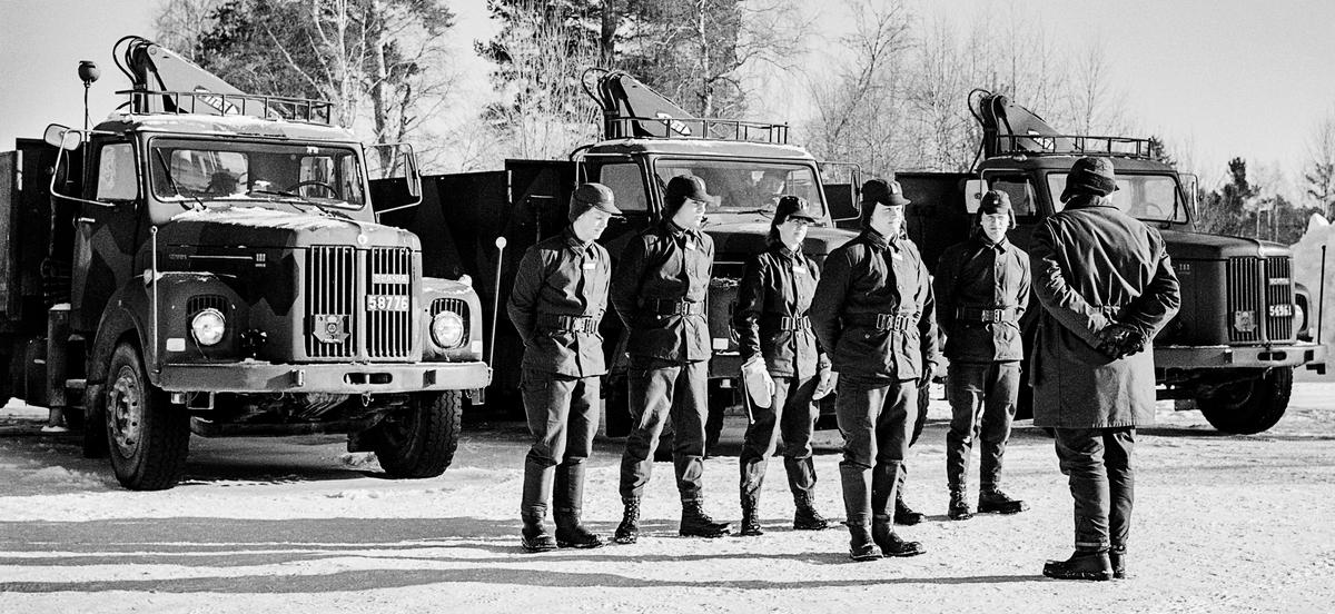 Trängens aspirantskola vid T 2 i Skövde genomför vinterutbildning i motortjänst.