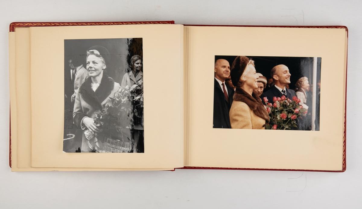 Album med fotografier av sjøsetting, dåp og overlevering av T/T 'Tabriz'.
